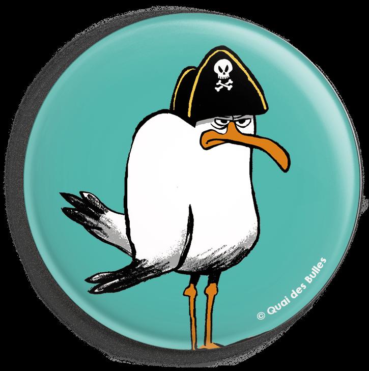 badge goéland quai des bulles saint-malo 2018 pirate festival